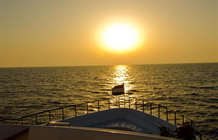 Red Sea Aggressor Sunset