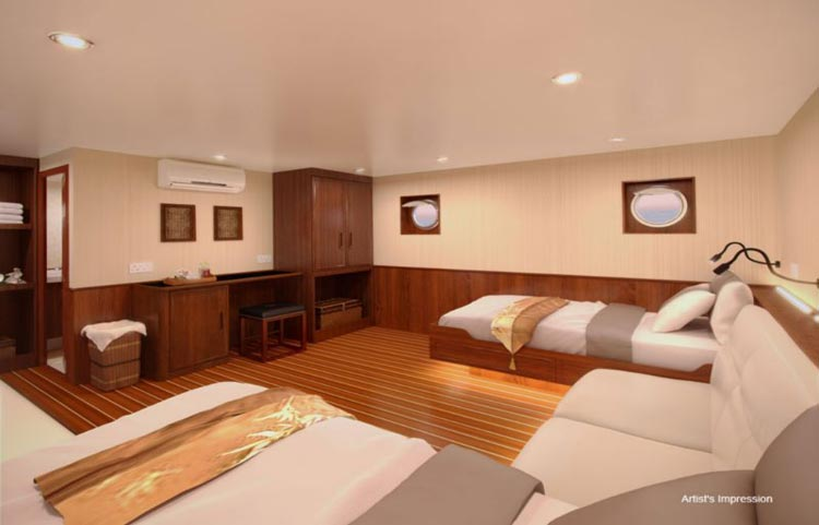Blue Manta Lower Deck Cabin