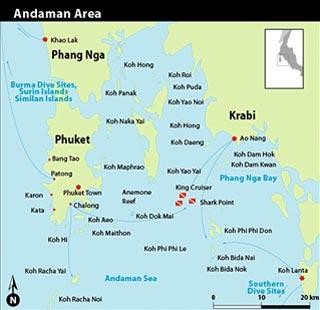 Map Of Thailand Islands South Phi Phi Islands | Thailand Diving Sites | Dive Deals